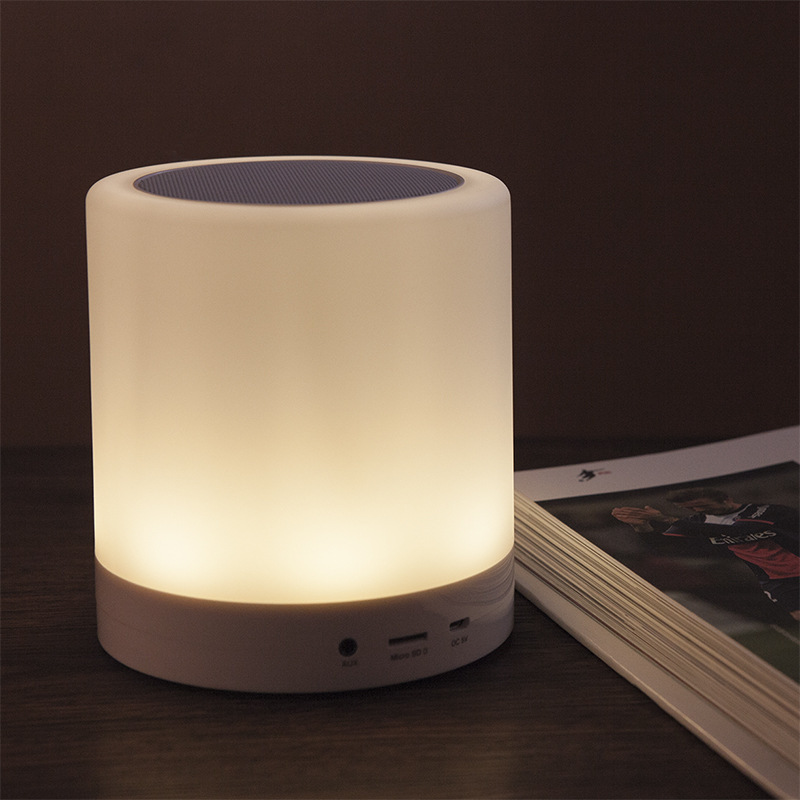 Touch-Sensitive-Lamp-Bluetooth-Speaker-with-Pothook-LED-lighting-wireless-speaker-support-TF-card-Hands-free