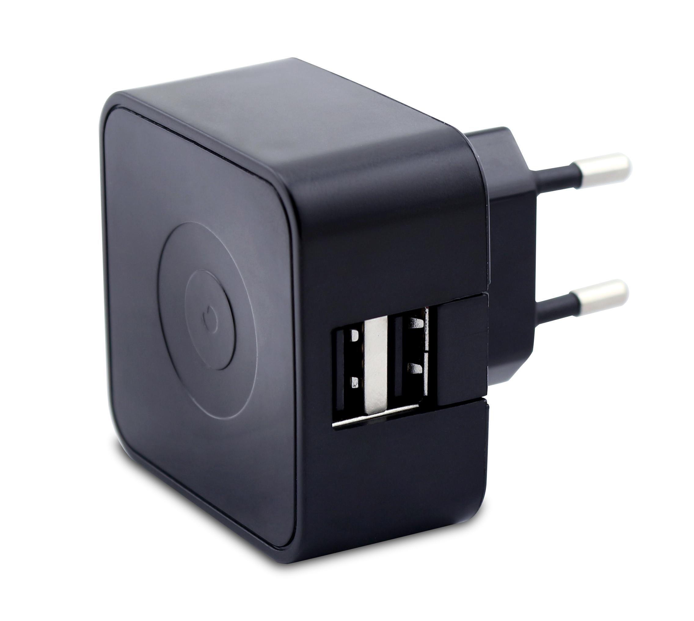 chargeur secteur pour smartphone noir 2 ports usb. Black Bedroom Furniture Sets. Home Design Ideas