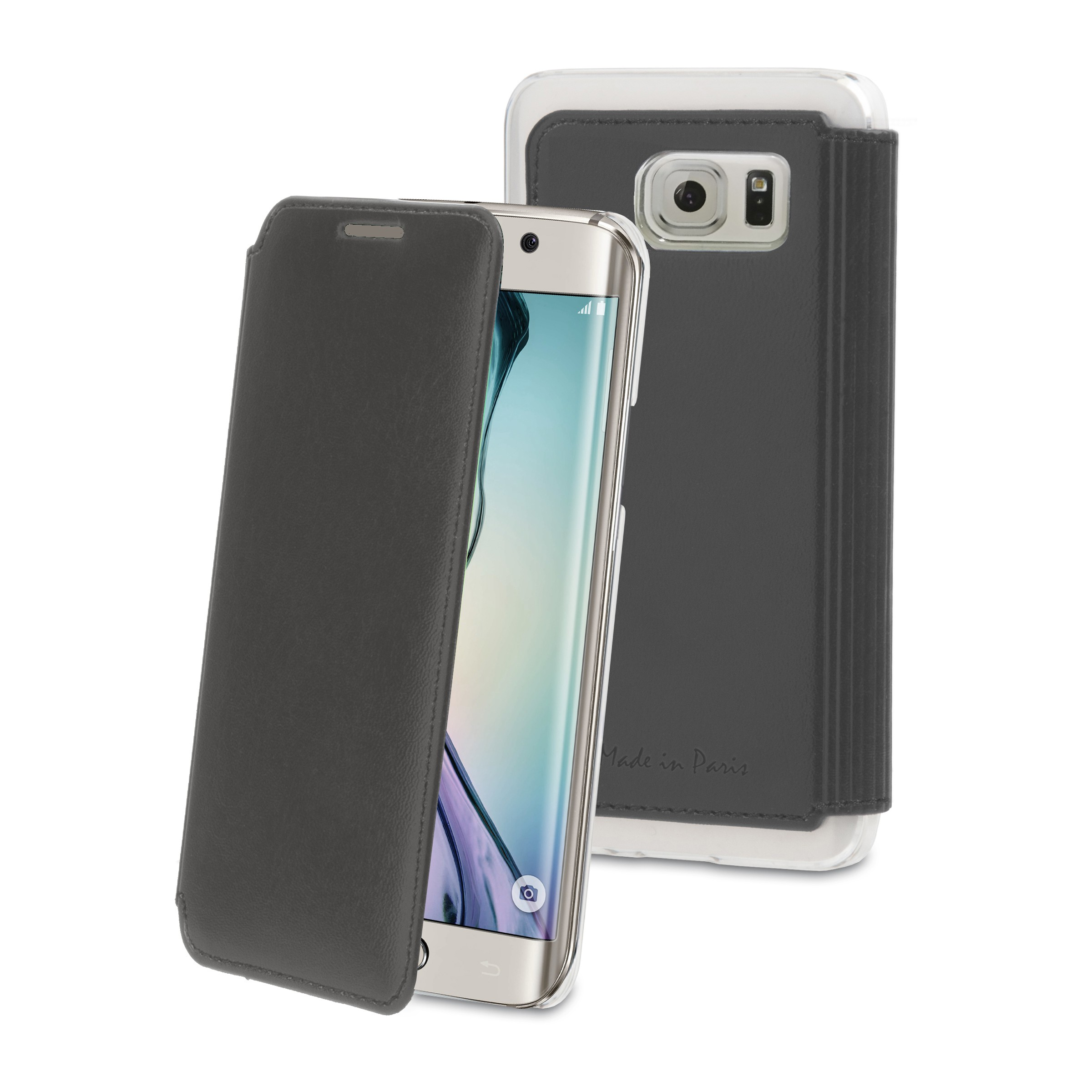 Samsung Galaxy S6 Edge - Muvit Made in Paris Coque en crystal Noir